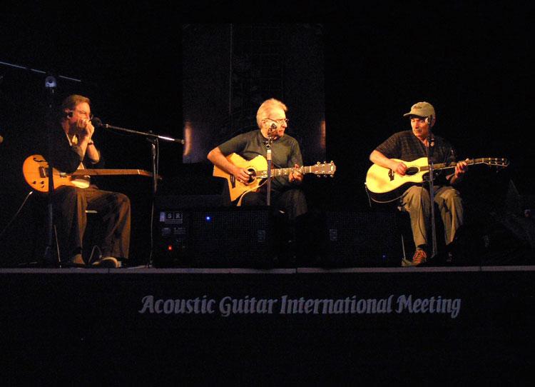 Con Artie Traum e John Sebastian, AGM Sarzana, 2007