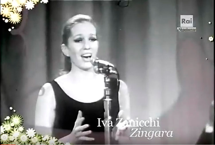 Iva Zanicchi al festival di Sanremo del 1969