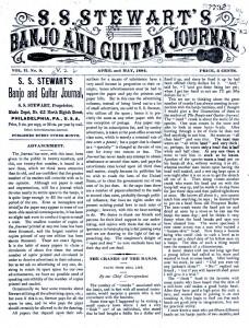 "La rivista ""S.S. Stewart's Banjo and Guitar Journal"""
