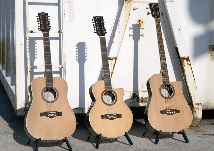 I modelli D 12-string, 018 CW 12-string e Bass D CW della Serie MIA