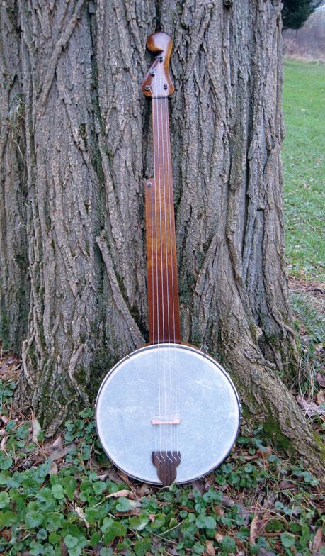 Un minstrel banjo di costruzione moderna